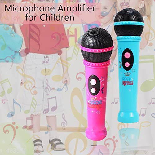 Micrófono Juguete Divertido Modelo de micrófono inalámbrico Regalo Música Karaoke Lindo Mini Diversión Juguete para niños Regalo Educativo Juguete de Aprendizaje (Azul + Caja de Color) -BCVBFGCXVB