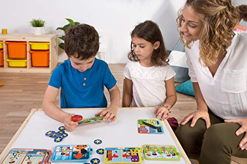 Miniland- Divertido Juego para Aprender la resolución de conflictos y emociones, Multicolor (45402)