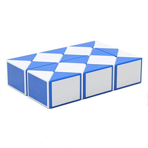 MZStech Magia Serpiente torcedura Juguete Puzzle Collection cuñas 24 Magia Regla (Azul)