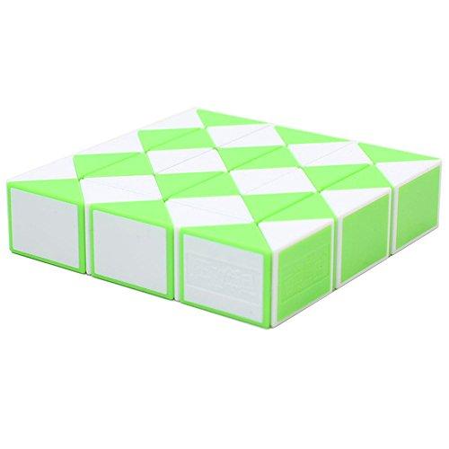 MZStech Magia Serpiente Twist Puzzle Twisty Toy Colección 36 Cuñas Magic Ruler (Verde)