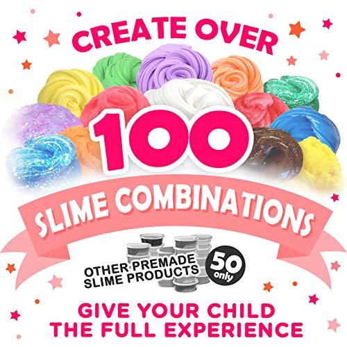 """Original Stationery Kit de Slime Kit para Elaboración de Slime """"Hágalo Usted Mismo"""" con Complementos para Slime Unicornio, Purpurina, Nube, Mantequilla, Espuma y Más para Niñas y Niños"""