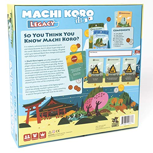 Pandasaurus Games Machi Koro Legacy - Juego de Mesa [Inglés]