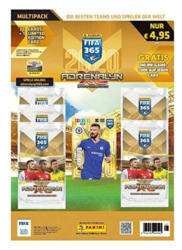 Panini- Adrenalyn XL FIFA 365, Temporada 2019/2020, Multipack con 5 Booster y una Tarjeta de edición Limitada, 6 Cartas por Paquete, Color carbón (804955)