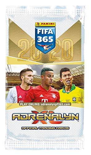 Panini- Adrenalyn XL FIFA 365, Temporada 2019/2020, Set de iniciación con Carpeta, Revista Coleccionable, Campo de Juego, 30 Cartas y una Tarjeta Limitada, Color carbón (4408954)