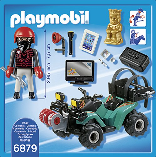 Playmobil Ladrón con Quad y Botín 6879