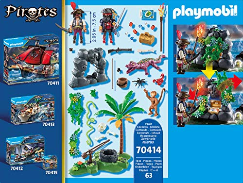 PLAYMOBIL Pirates - Escondite Pirata, a partir de 5 Años, 70414