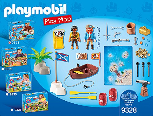 PLAYMOBIL- Play Map Piratas del Caribe Juguete, Multicolor (geobra Brandstätter 9328)