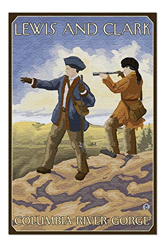 PmseK Rompecabezas Lewis and Clark - Columbia River Gorge, Oregon 1000 Piece Jigsaw Puzzle