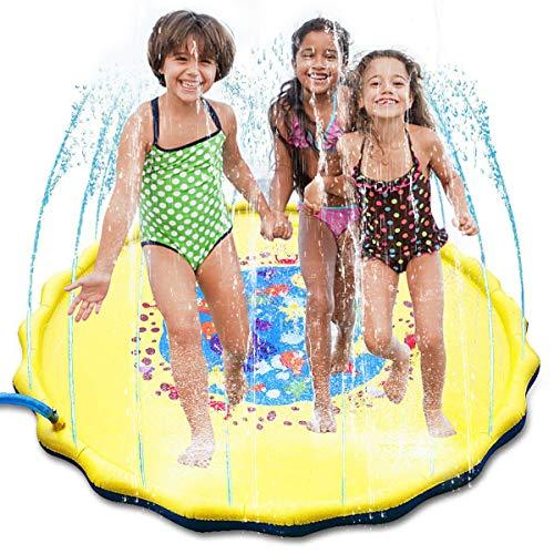 puseky Niños Rociadores Inflables Juego de Agua Estera Niños Diversión Al Aire Libre Juego de Agua Pad Verano Exterior Juguetes de Agua