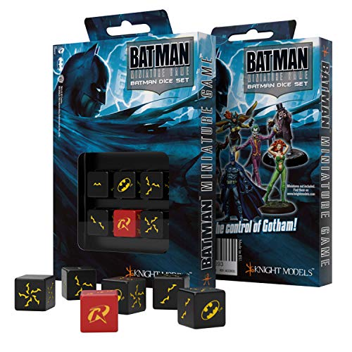 Q Workshop Batman Miniature Game RPG 6 x D6 Batman Dice Set