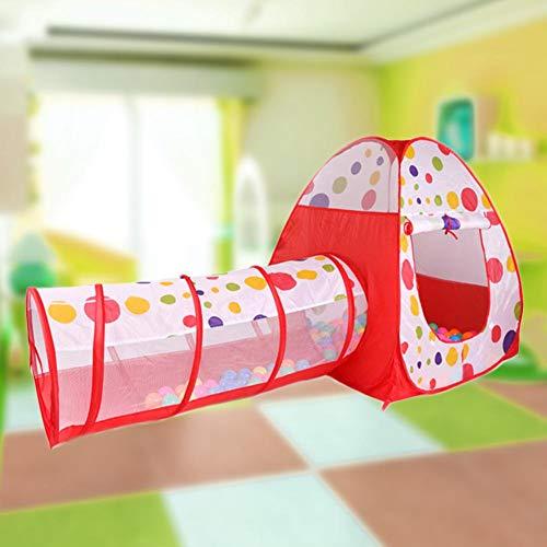 Rich-home 2 en 1 Túnel del Juego Infantil, Pop Up Tienda Campaña Infantil Exterior Interior con Cesta de Baloncesto Parque de Juegos de Cubby Plegable para Niños - 120x112x120CM Choice Handy