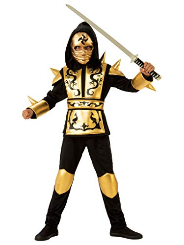 Rubies - Disfraz ninja dragon gold para niño, talla 3-4 años (Rubies 641143-S)