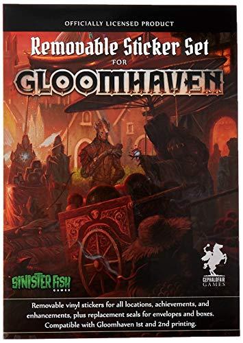 Sinister Fish Games SIF00020 Gloomhaven: Juego de Pegatinas extraíbles