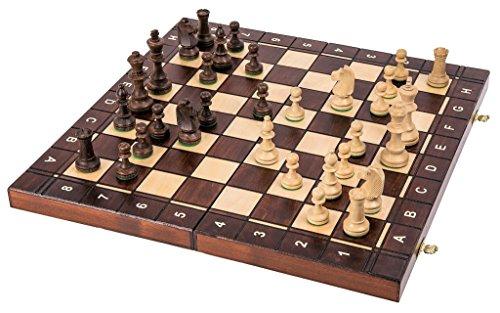 Square - Juego SENADOR 3 en 1 - Ajedrez de Madera - Backgammon - Dama - 42 x 42 cm