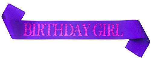 Sterling James Co. Banda Brillante Morada de Cumpleaños - Birthday Girl (La Chica del Cumpleaños) – Regalos, Accesorios, Decoraciones y Artículos Divertidos para Celebraciones de 16 – 21 años