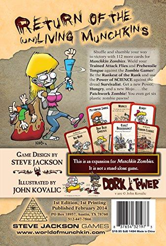 Steve Jackson Games sjg01494–Juego de Cartas Munchkin Zombies: Armed and Dangerous