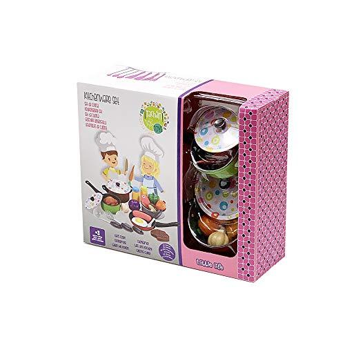 Tachan - Set Menaje de Cocina Metálico de Colores, 22 Piezas (780CS007) , color/modelo surtido