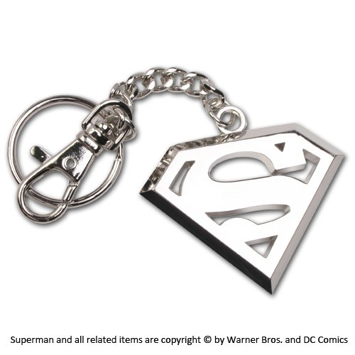The Noble Collection Superman 5cm Llavero con Logo de Acero Inoxidable