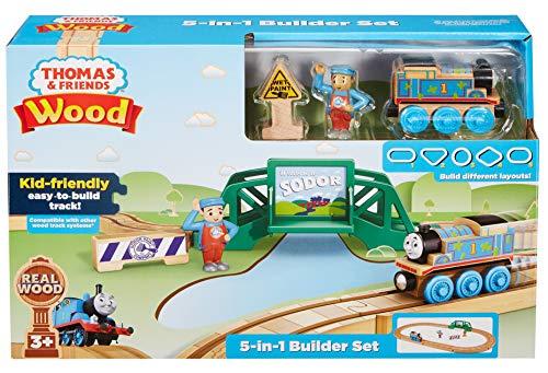 Thomas & Friends FHM64 - Juego de construcción de Madera (5 en 1)
