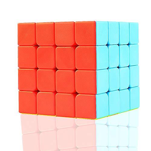 TOYESS Cubo de Velocidad 4x4 Stickerless, Cubo Mágico 4x4x4 Speed Cube Rompecabezas Juguetes para Adulto & Niños