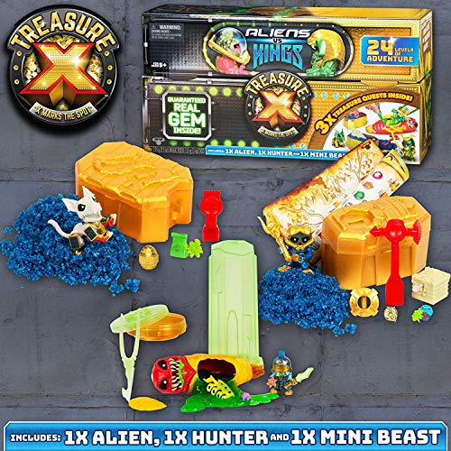 TREASURE X Treasure Chest Aliens V Kings Cofre del tesoro-los estilos varían, colores pueden variar. (Moose 41516) , color/modelo surtido