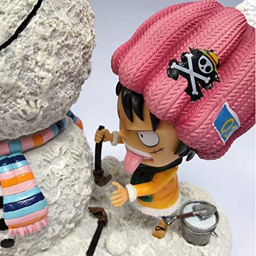 Tuotang Animación Modelo: Rey De La Vela Piratas. Muñeco De Nieve / Ruffy Escena Estatua, Almas Caja De Regalo De La Muñeca Adornos. Altura De Aproximadamente 28 cm / 2,11 Yingcun