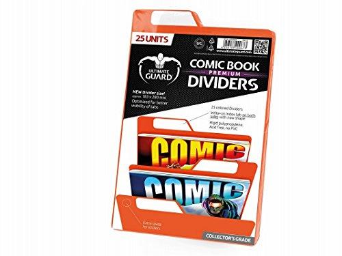 Ultimate Guard Premium Comic Book Dividers Separadores para Cómics Naranja (25)