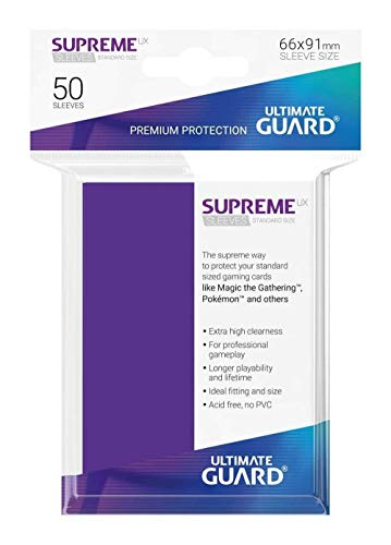 Ultimate Guard- Protective Card Sleeves Funda Metalizada Violeta 50 U, Color Aquamarine, Talla estándar (UGD010800)