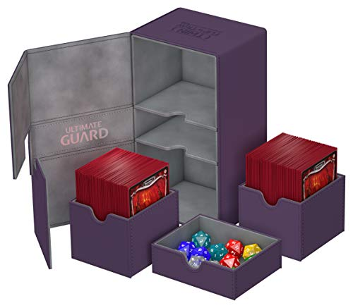 Ultimate Guard Twin Flip´n´Tray Deck Case 200+ Caja de Cartas Tamaño Estándar XenoSkin Violeta