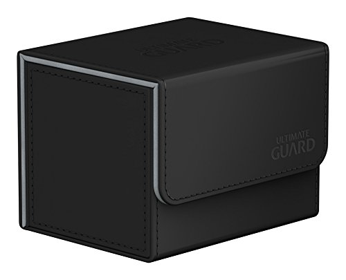 Ultimate Guard UGD010856 Sidewinder 100 Plus ChromiaSkin - Funda para Tarjetas, Color Negro