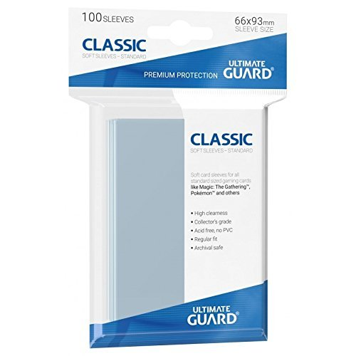 Ultimate Guard UGD10001 Funda para tarjeta, Transparente, 66 x 93 mm, Paquete de 100