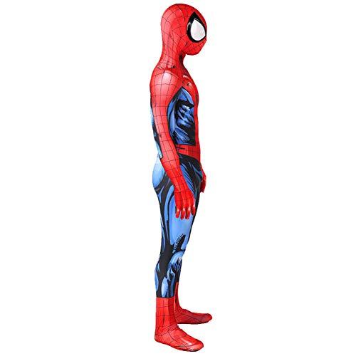 Ultimate Spiderman Combat Uniform Spiderman Cosplay Disfraz SuperhéRoe Disfraz Disfraz Navidad Halloween Hombres NiñOs Papel Jugador Prop,Adult-S