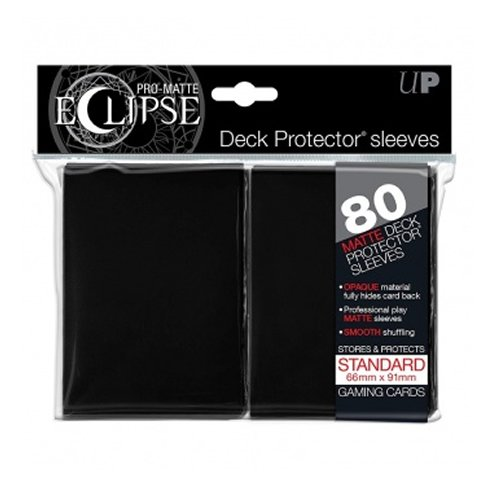Ultra Pro- Pro-Matte Eclipse Black Standard (80), Color Schwarz (Ultrapro E-85345)