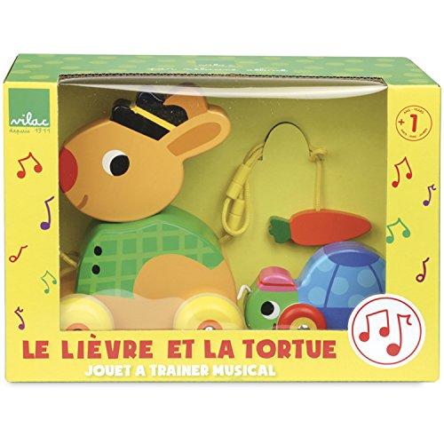 Vilac - La Liebre y Tortuga, Juguete Musical para Arrastrar (4650)