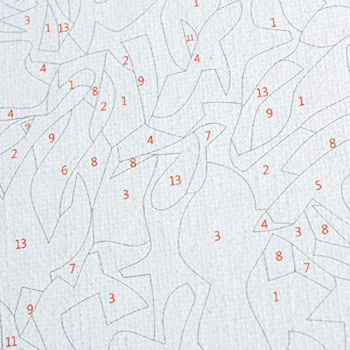 wangyanming Caballo Galopar En El Campo De Nieve Pintura Al Óleo Digital De DIY by Números Dibujo Lienzo Decoración para El Hogar Acrílico para Colorear Imágenes Arte De La Pared