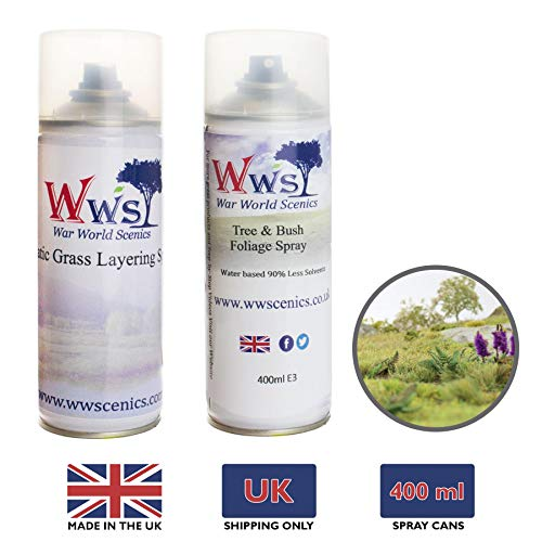 War World Scenics Tree & Bushes Foliage Spray 400ml Can (UK Only) – Railway Modelling Wargaming Terrain Model Diorama