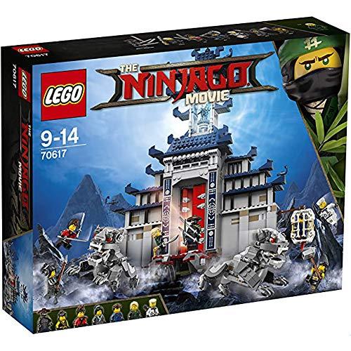 WXX 1403Pcs Phantom Ninja Película Leyenda Invencible Templo Arma Montado Juega el Regalo de cumpleaños para la Educación de los niños Sistema del Bloque