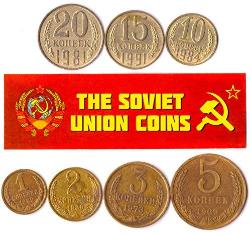 100 URSS SOVIÉTICA KOPEKS Monedas 1961-1991 Guerra FRÍA Hoz Y EL Martillo Dinero Ruso