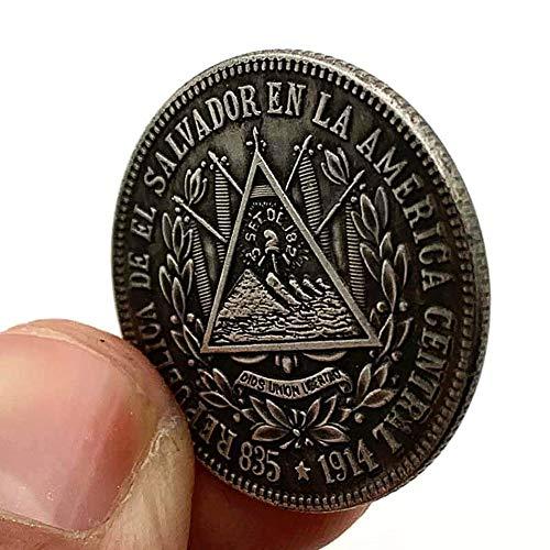 1914,Triángulo,Pirámide,Vendimia,Coleccionables,Artes,Muy Bien,Maya,el Faraón,Místico,Tótem,Monedas Conmemorativas,2Pcs Moneda de Decisión/marrón / 2pcs