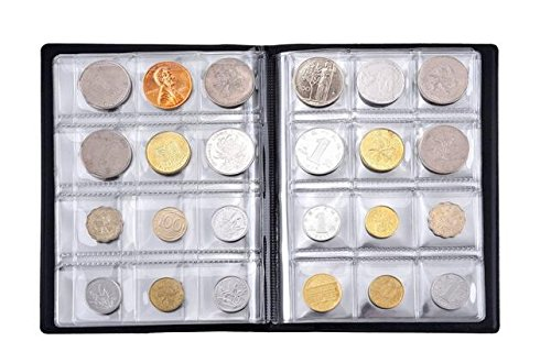 1Pcs Black 10 Pages 120 Pockets Coin Collection Album Commemorative Coins Penney Storage Book Holder Organizer for Coin Collector