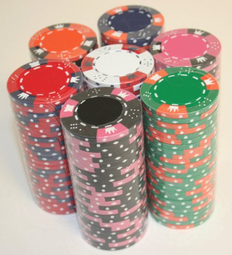 25naranja corona y dados 14G 3tono fichas de poker
