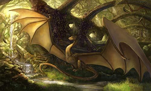 500 piezas de rompecabezas para adultos Patrón de Dragon By The River Diy Personalización hecha a mano, es un buen regalo de cumpleaños