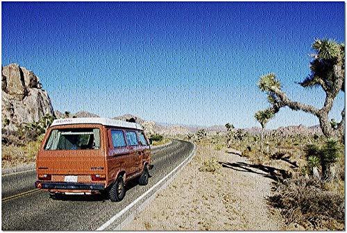 ACCYT HD Viaje por el Desierto en un Viejo VW Camper a través del Parque Nacional Joshua Tree 9016254 (¡Rompecabezas Premium de 500 Piezas de 52*38 cm Hecho en EE. UU.!)