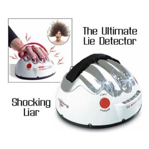 Ajustable de la descarga eléctrica detector de mentiras del polígrafo adulto Juego verdad del mentiroso