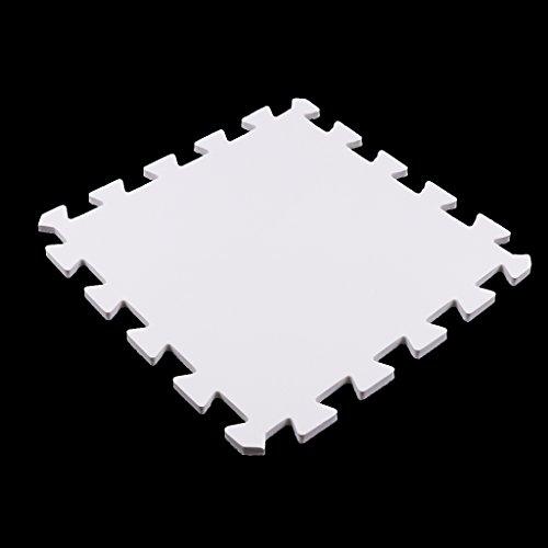 Alfombrilla De Ejercicio De 9 Baldosas Espuma Sólida EVA Puzzle Playmat Kids Safety Play Alfombrilla - Blanco, como se describe