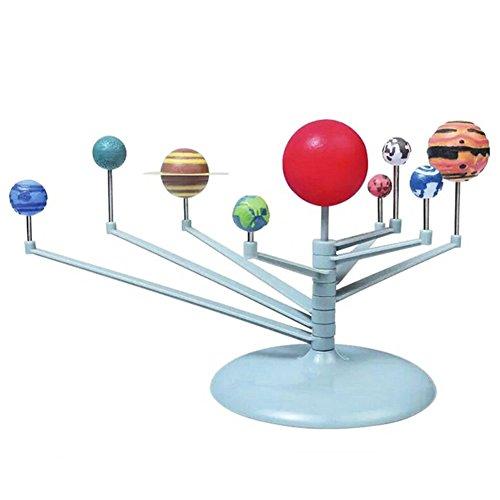 Alician Sistema Solar 3D Planetario Modelo de Estudio de Aprendizaje Kits de Ciencias Educativos Modelo de Astronomía DIY Juguete de Regalo