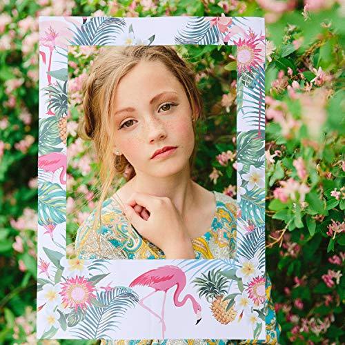 Amosfun 16 Unids Party Photo Booth Props Tropical Summer Conjunto de Accesorios de Fotos de Piña Hawaiana DIY Photo Booth Props Cumpleaños Cabina de Fotos Accesorio