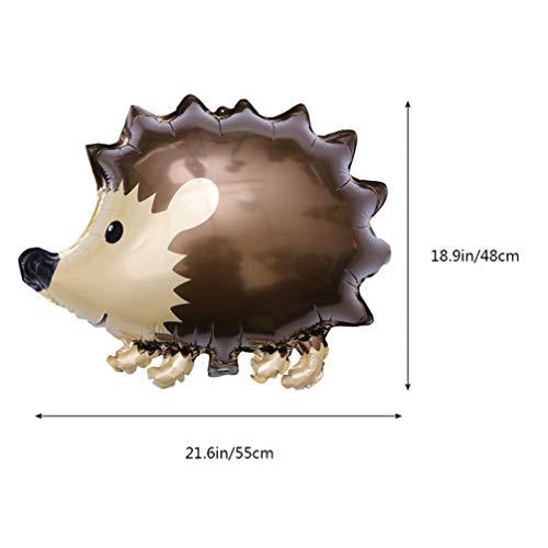 Amosfun 6 Piezas Animal Globo Bosque Hedgehog Mapache Ardilla Papel de Aluminio Globo Baby Shower cumpleaños Festival Fiesta de Navidad decoración Foto Accesorios