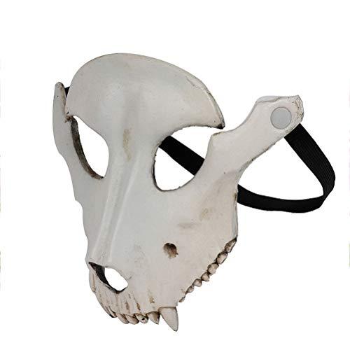Amosfun Sheep Head Mask Halloween Sheep Skull Cosplay Máscara Halloween Party Horror Mask para Cosplay Party Props (Beige)