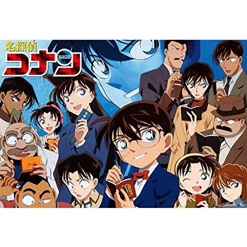 A/N Rompecabezas para Adultos 300/500/1000 Piezas Rompecabezas 3D De Madera Clásico Rompecabezas Detective Conan Anime Pintura A Mano Colección DIY Decoración del Hogar(Size:300 Piezas)